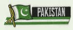 Pakistan Embroidered Flag Patch, style 01.